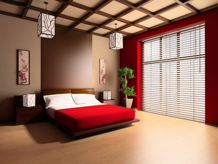 Sypialnia w stylu zen projekt sypialni sypialnia - Alfombras para habitacion ...